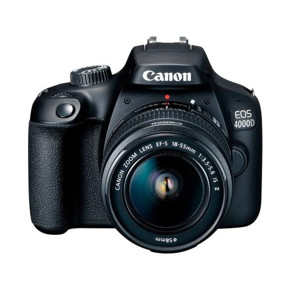 Canon kit eos 4000d cámara reflex 18mp full hd digic4+ wifi + objetivo ef-s 18-55mm + bolsa de hombro + tarjeta sd 16gb