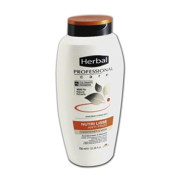 Herbal professional care nutri lisse anti frizz acondicionador mascarilla 750ml