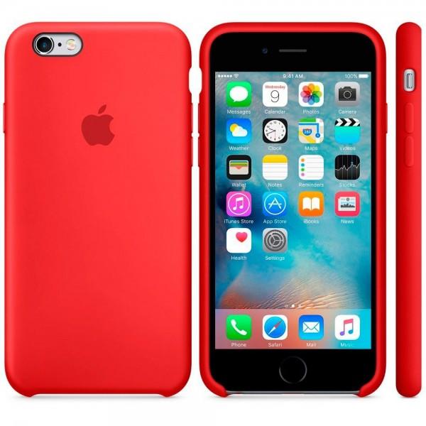 Apple mky32zm/a rojo carcasa de silicona iphone 6s/6