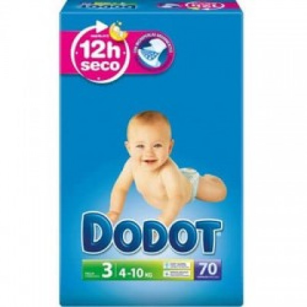 Dodot Pañales 3d t3 ( 6-10 kg ) 70 uds