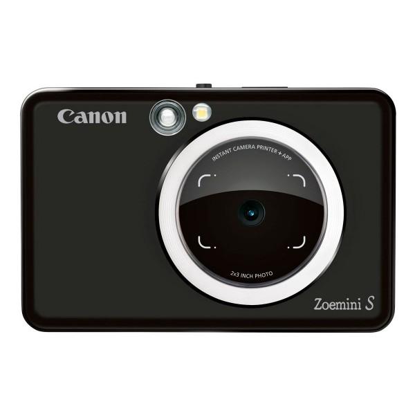 Canon zoemini s negro cámara 8mpx impresora instantánea 5x7.6cm
