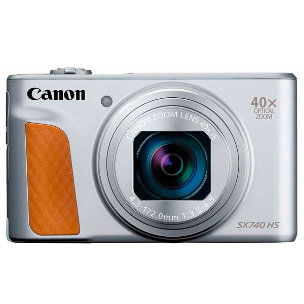 Canon powershot sx740hs plata cámara de fotos digital compacta 20.3mp uhd zoom óptico 40x wifi bluetooth