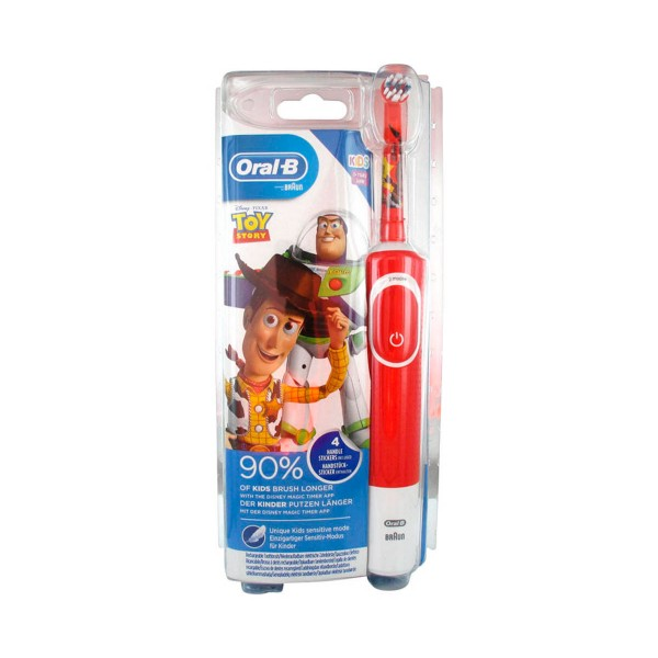 Braun oral-b kids rojo cepillo de dientes eléctrico recargable toy story
