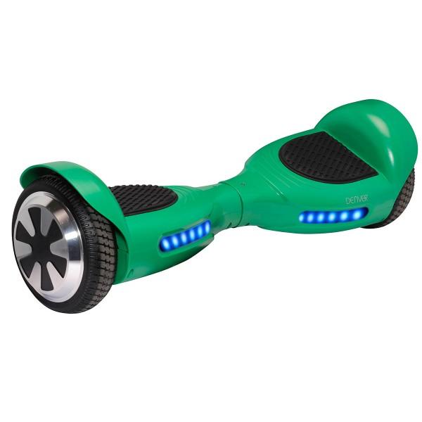 Denver dbo-6530 verde hoverboard scooter eléctrico 15km/h y 8km de autonomía