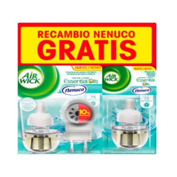 Air Wick Pure Ambientador Difusor +Recambio Nenuco + Recambio GRATIS