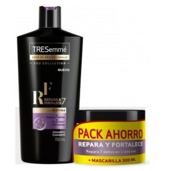 TRESemmé champú 700 ml + Mascarilla 300 ml Repara y protege  PACK AHORRO