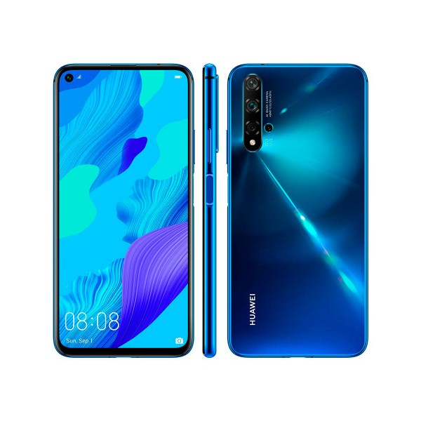 Huawei nova 5t azul móvil 4g dual sim 6.26'' ips fullhd+ octacore 128gb 6gb ram quadcam 48mp selfies 32mp
