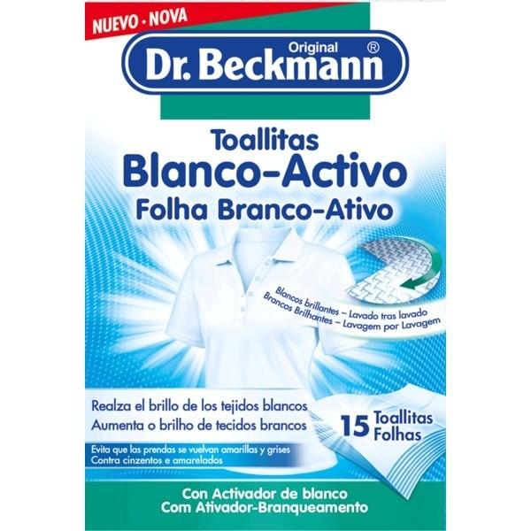 Dr. Beckmann toallitas Blanco Activo 15 uds