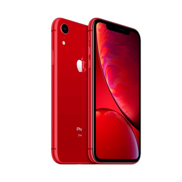Apple iphone xr 64gb rojo reacondicionado cpo móvil 4g 6.1'' liquid retina hd led hdr/6core/64gb/3gb ram/12mp/7mp
