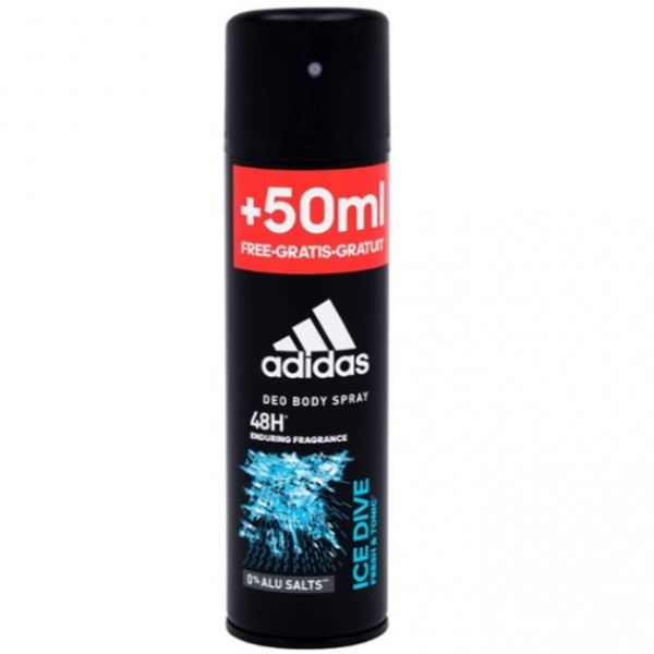 Adidas desodorante spray Ice Dive 150 ml + 50 ml GRATIS