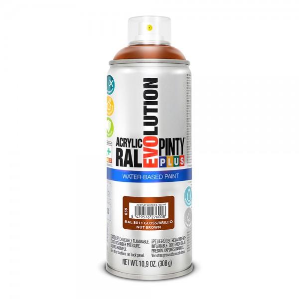 Pintura en spray pintyplus evolution water-based 520cc ral 8011 pardo nuez
